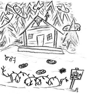 Wredny Dziad mieszka w Obleśnej Leśnej Chacie